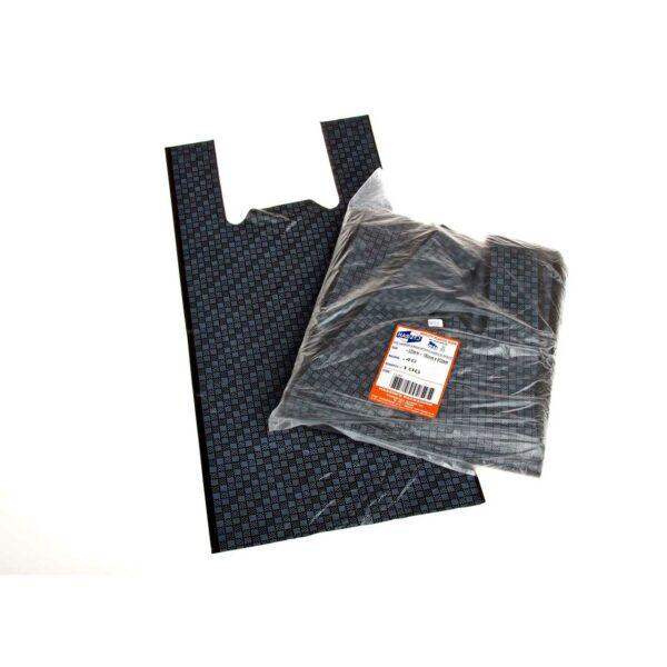 (100) JUMBO Check Design bags