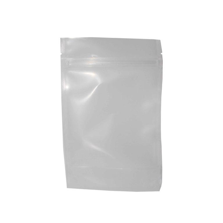 100 CLEAR DOY POUCH ZIPPER 500ml(14×22+8bg x 150mic)