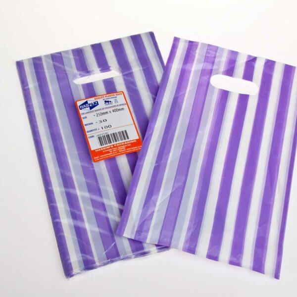 (100) HD Boutique Bag 25×40 Stripes