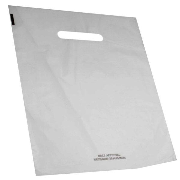 (100) LD BOUT BAGS 56×52+4BGx50mic WHITE PATCH