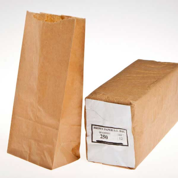 (250) SO BROWN BAG SIZE 12 195+110×315